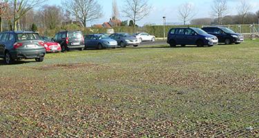 Het verstevigend raster voor bestaande grasperken