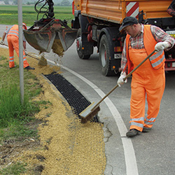 Road Edge Pave la dalle pour stabiliser les accotements