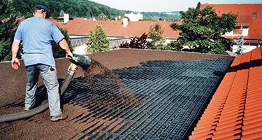 Bac de drainage pour toiture jardin