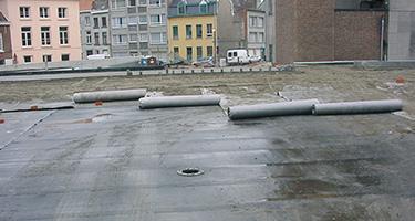 Drainage double structure avec deux géotextiles