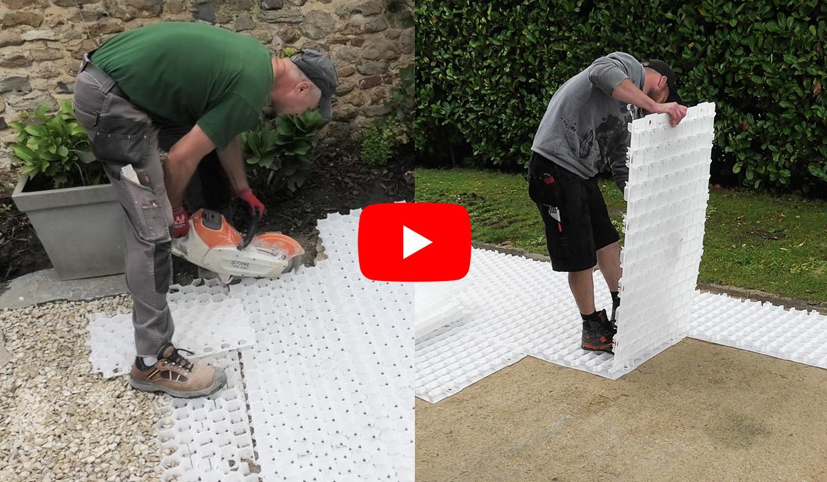 Nouvelles vidéos pour les dalles gravier